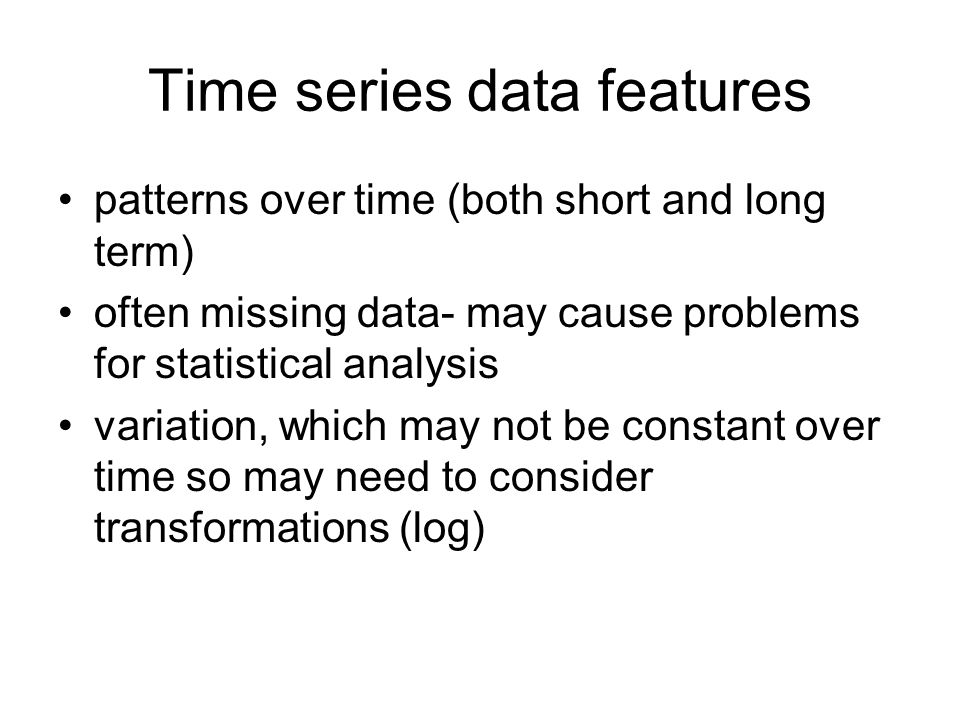 Time series data features
