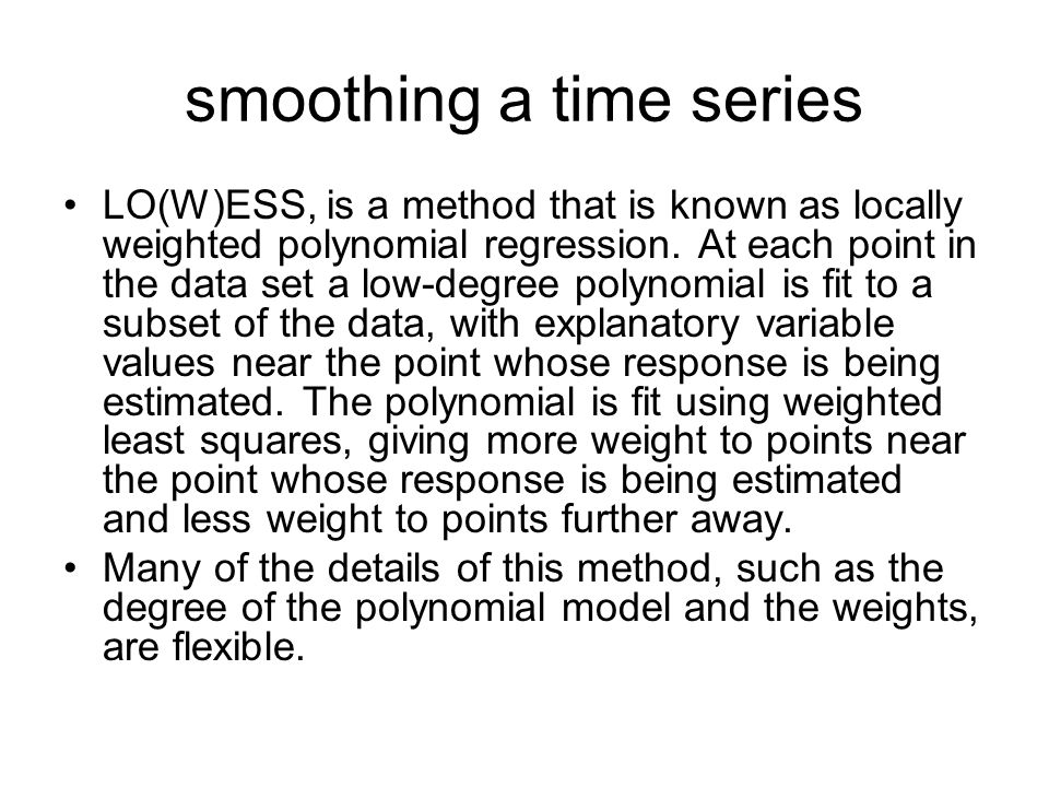 smoothing a time series