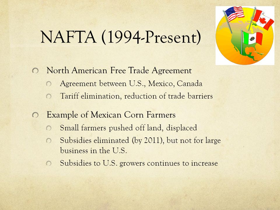 north american free trade agreement nafta essay Nafta eu compare contrast essay custom student mr teacher eng 1001-04 27 december 2016 nafta eu compare contrast the north american free trade agreement (nafta) is an agreement signed by the governments of mexico, canada and the united states it creates a three way trade bloc in north america the agreement was made on january 1, 1994 the trade.