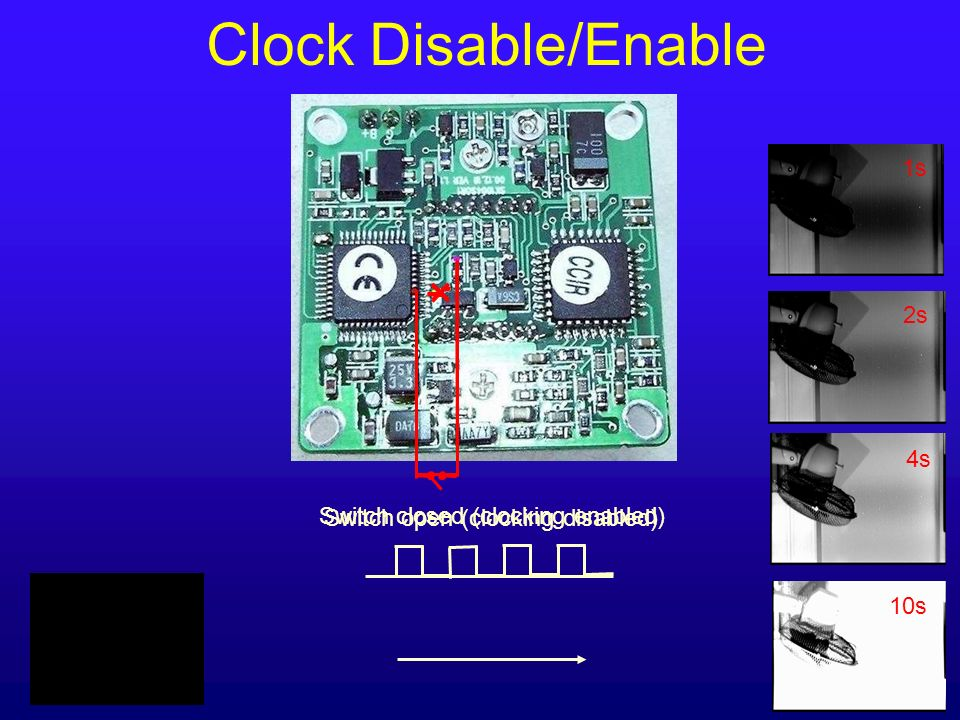 Clock Disable/Enable 1s 2s 4s Switch closed (clocking enabled)