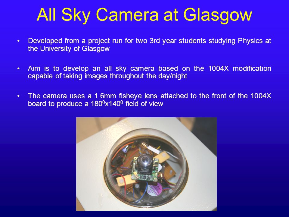 All Sky Camera at Glasgow