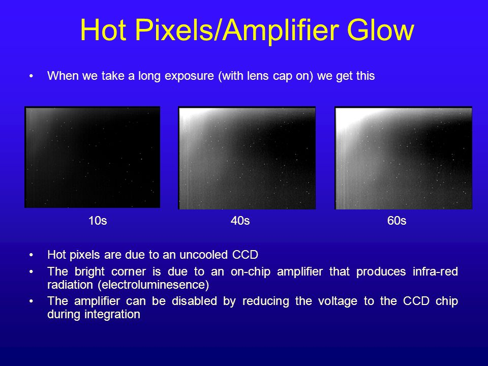 Hot Pixels/Amplifier Glow