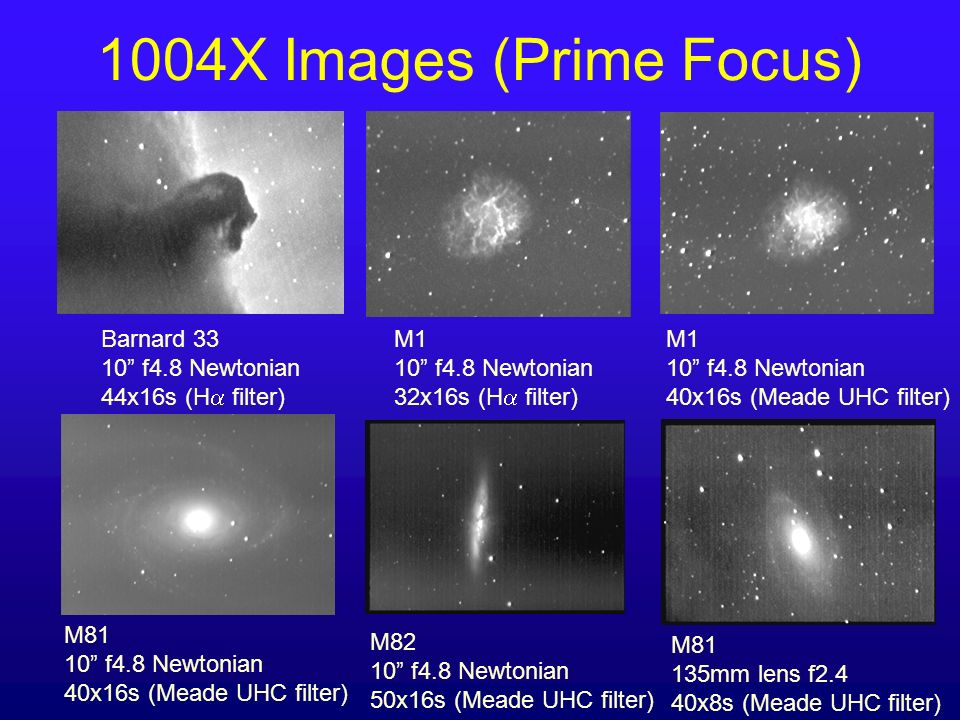 1004X Images (Prime Focus) Barnard 33 10 f4.8 Newtonian