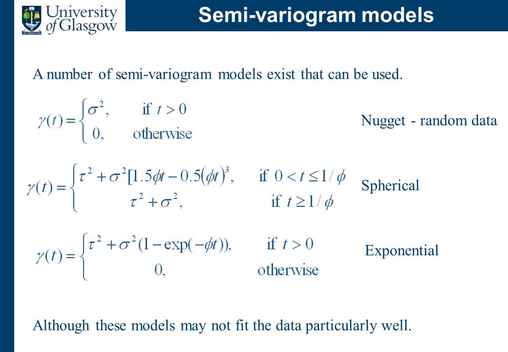 Modelling spatial dependence