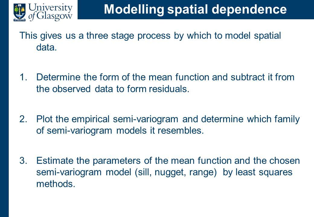 Goals of spatial prediction