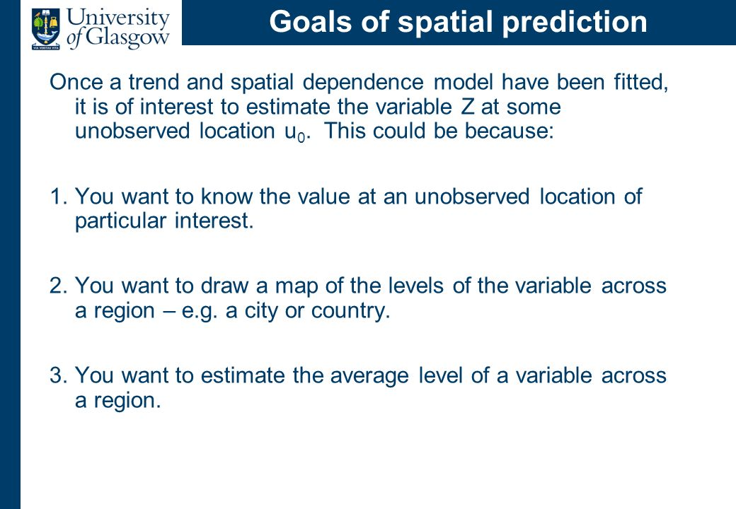 Implementing spatial prediction