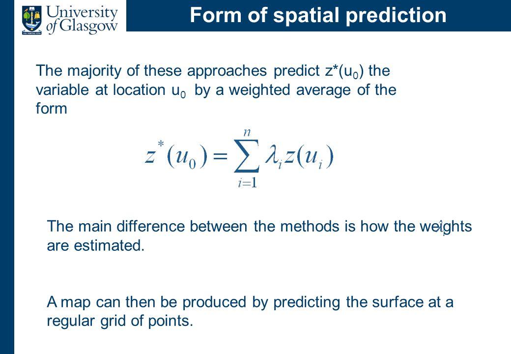 Estimating a spatial average