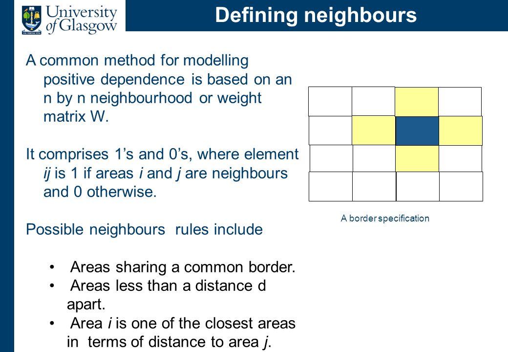 Conditional autoregressive models