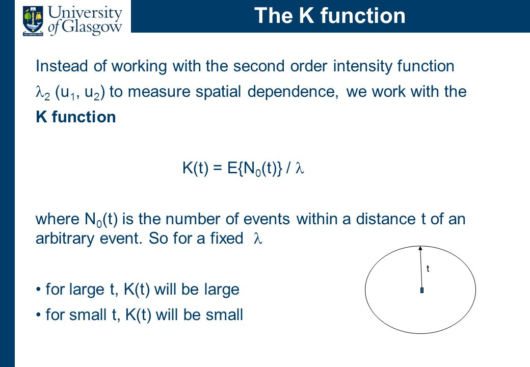 Why is the K function useful