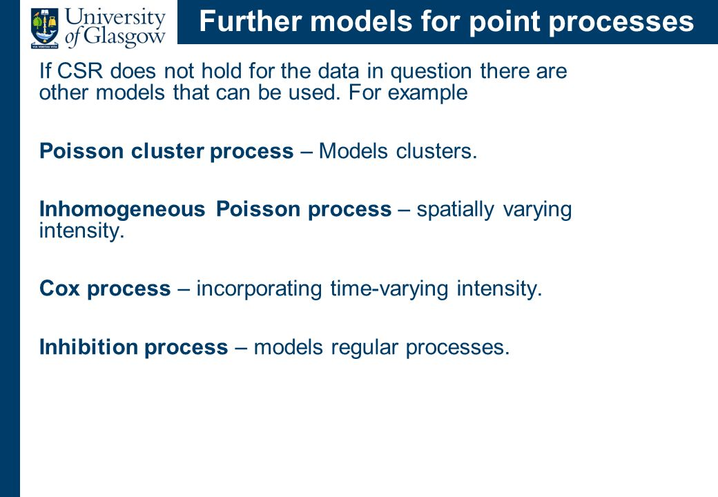 A final example Clustered process