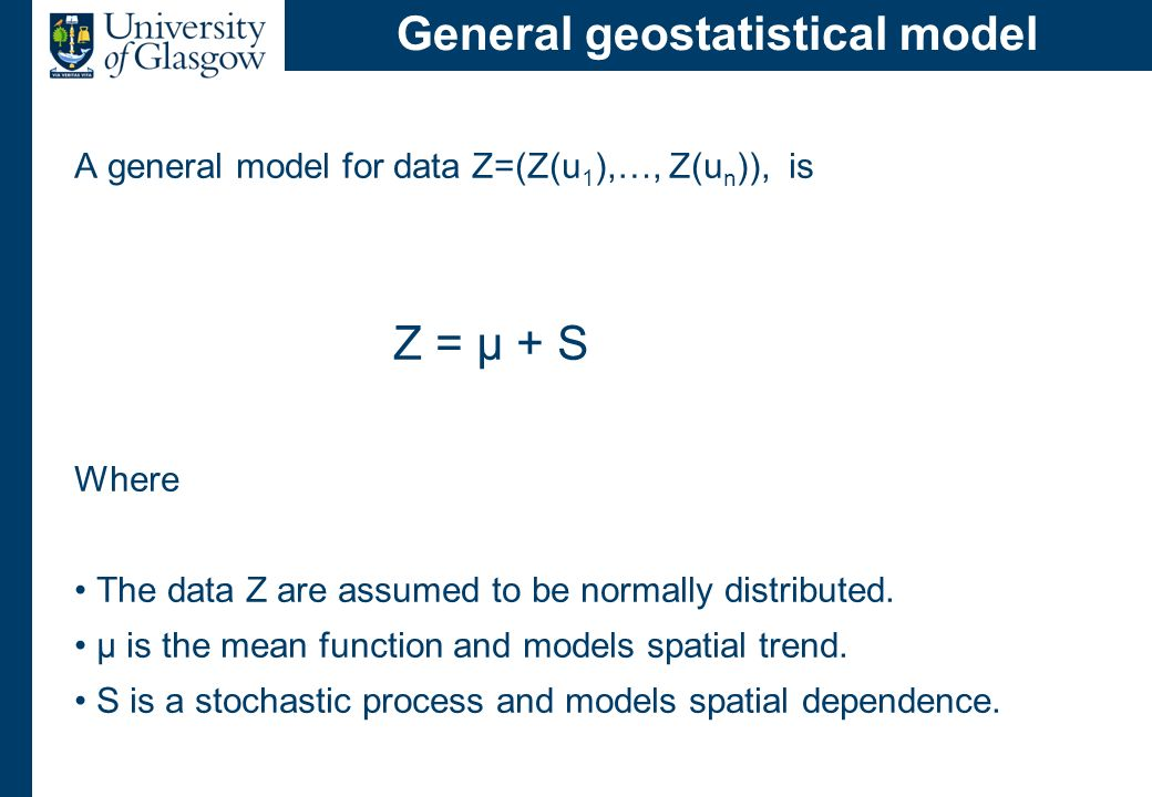 Modelling the spatial trend µ