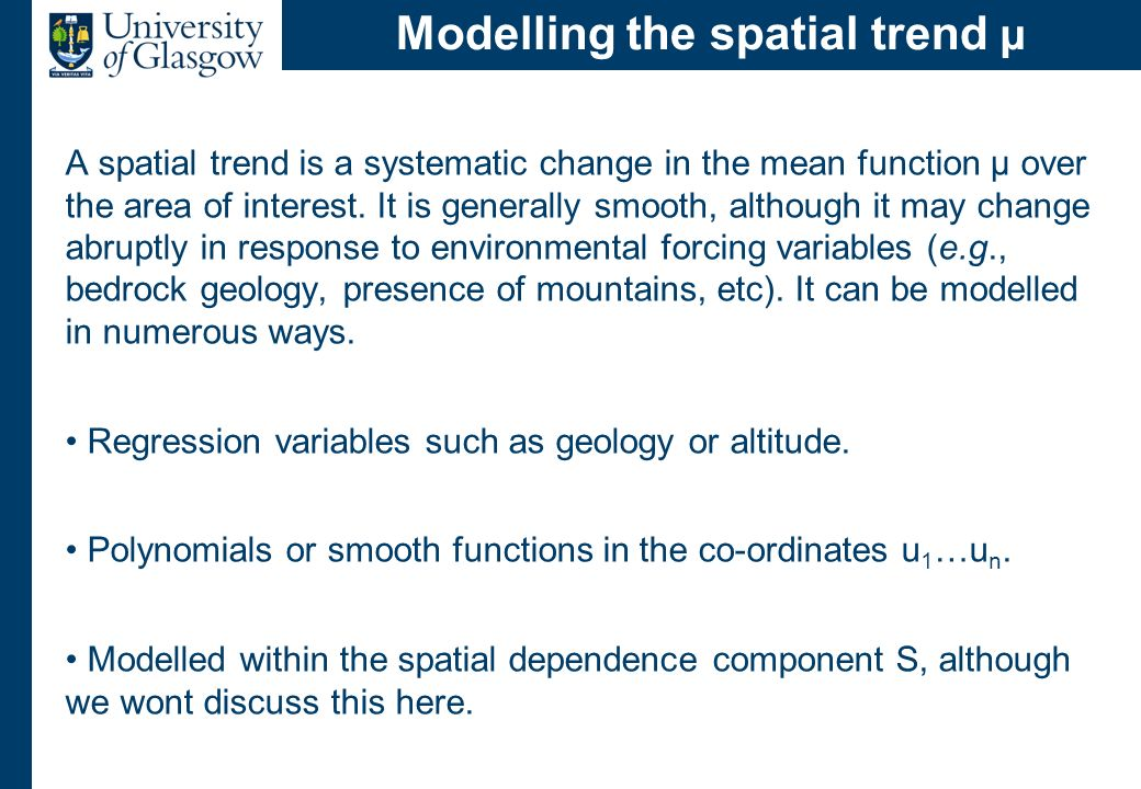 Types of spatial dependence 1