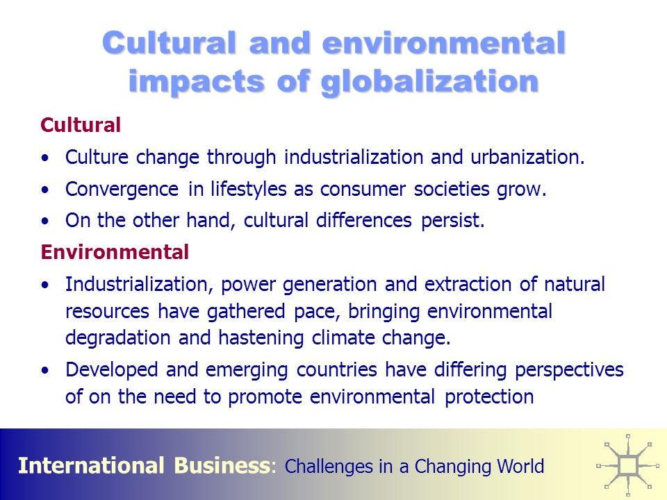 outcomes of globalisation