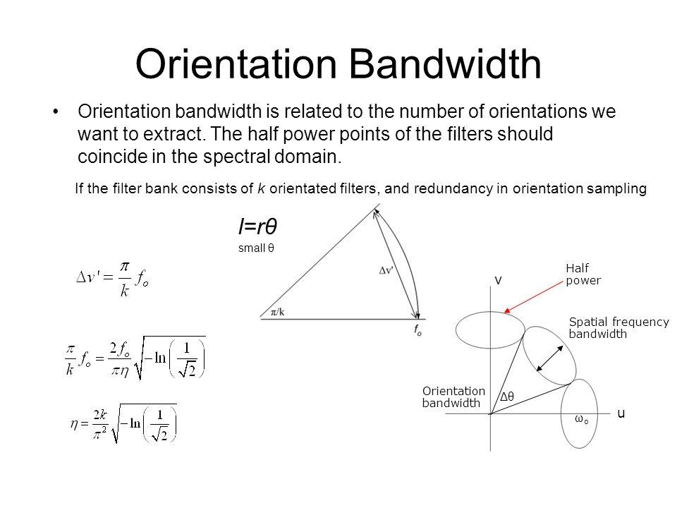 Orientation Bandwidth