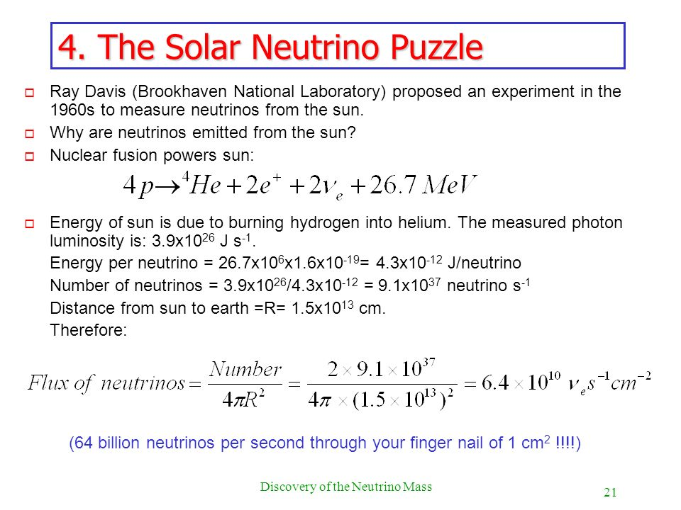4. The Solar Neutrino Puzzle