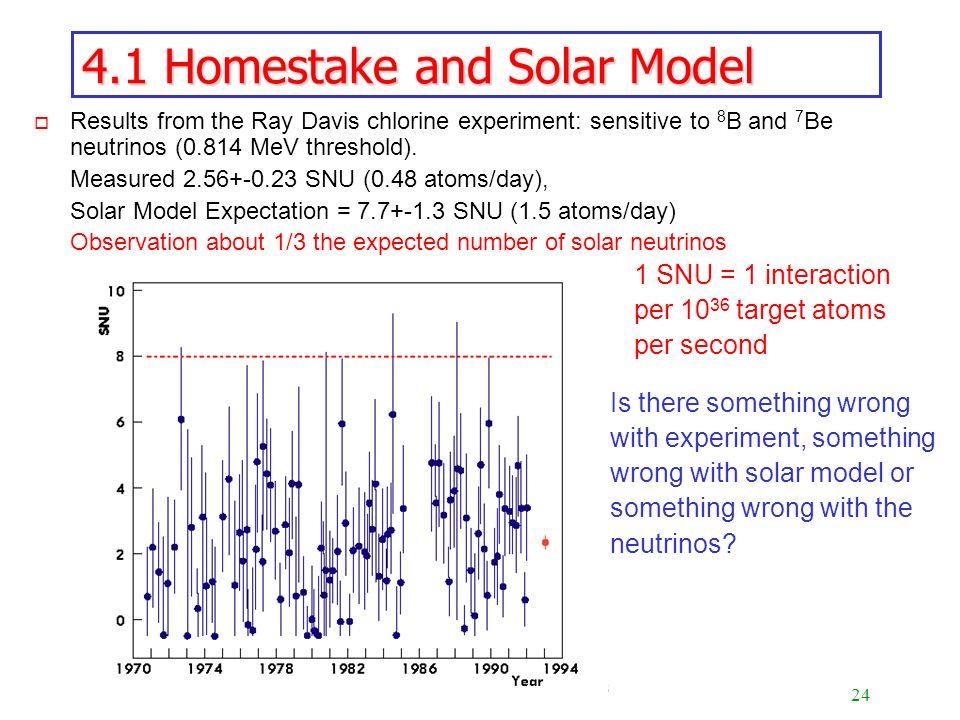 4.1 Homestake and Solar Model