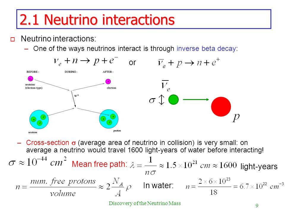 2.1 Neutrino interactions