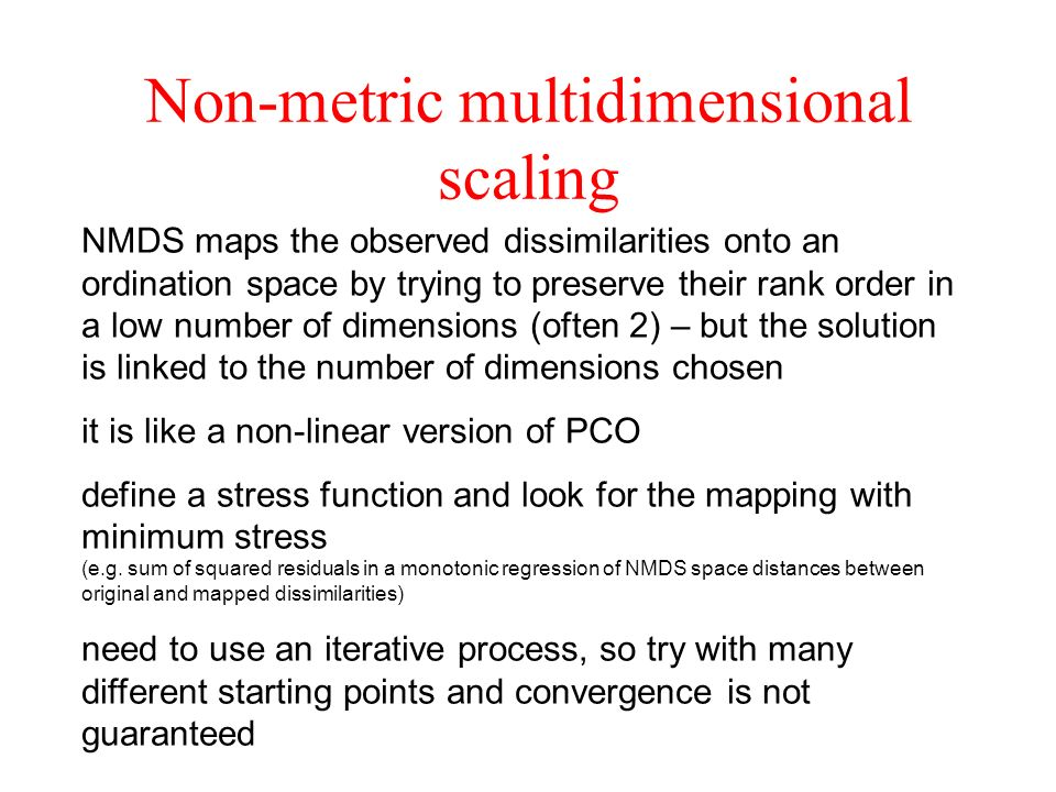 Non-metric multidimensional scaling