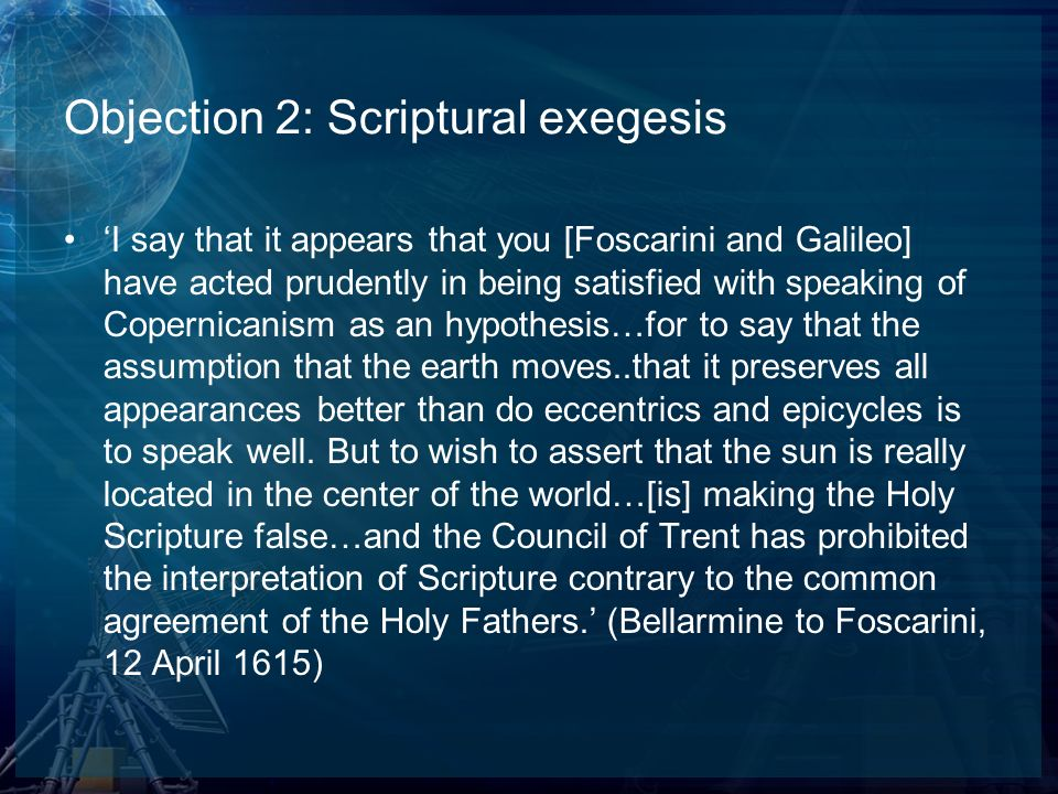 Objection 2: Scriptural exegesis