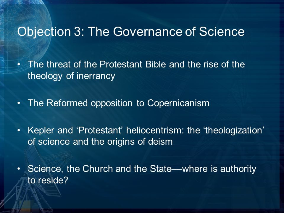 Objection 3: The Governance of Science