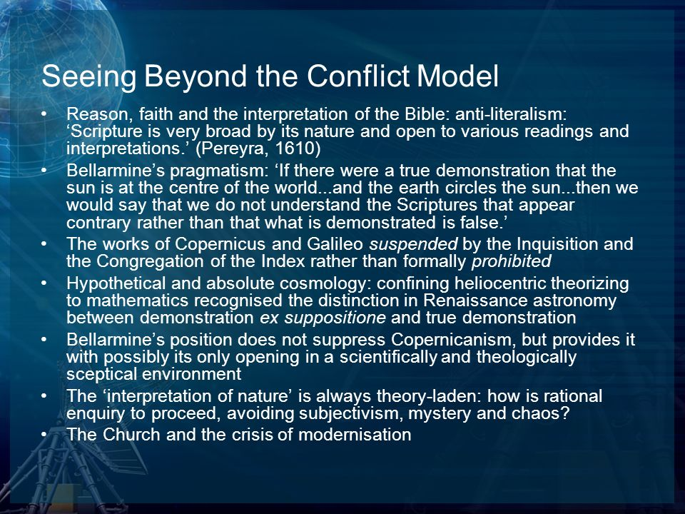 Seeing Beyond the Conflict Model