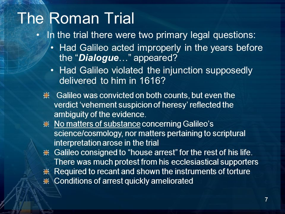 The Roman Trial In the trial there were two primary legal questions: