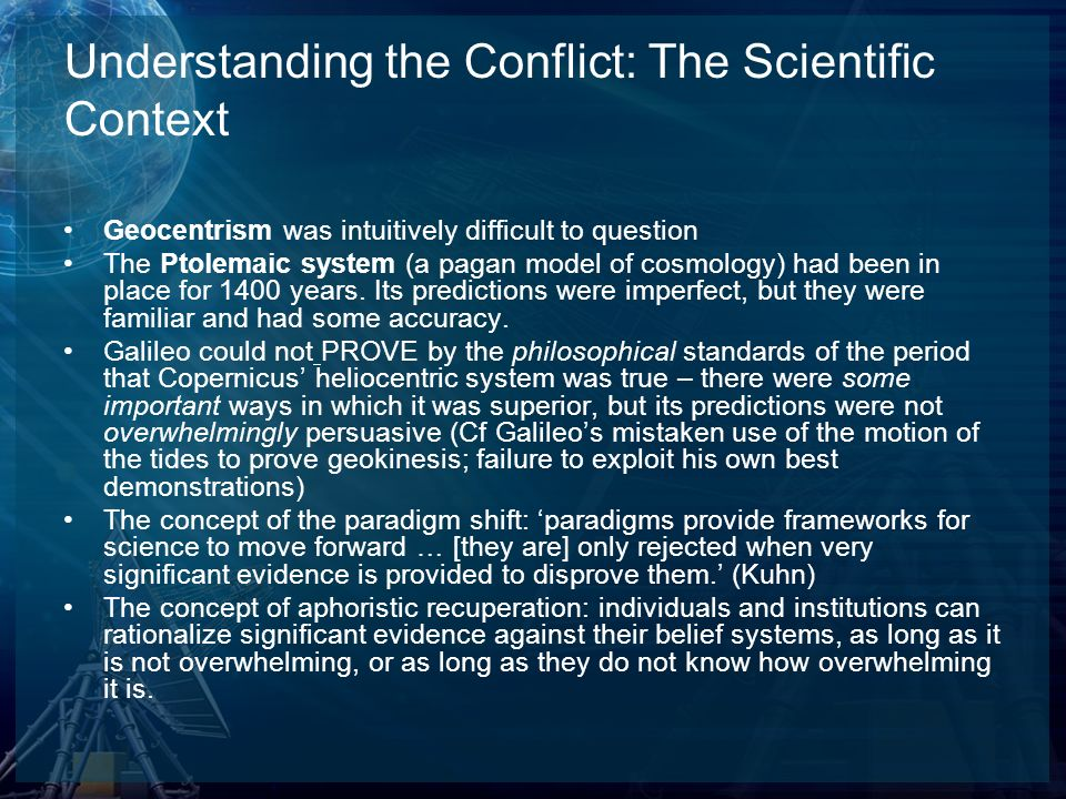 Understanding the Conflict: The Scientific Context