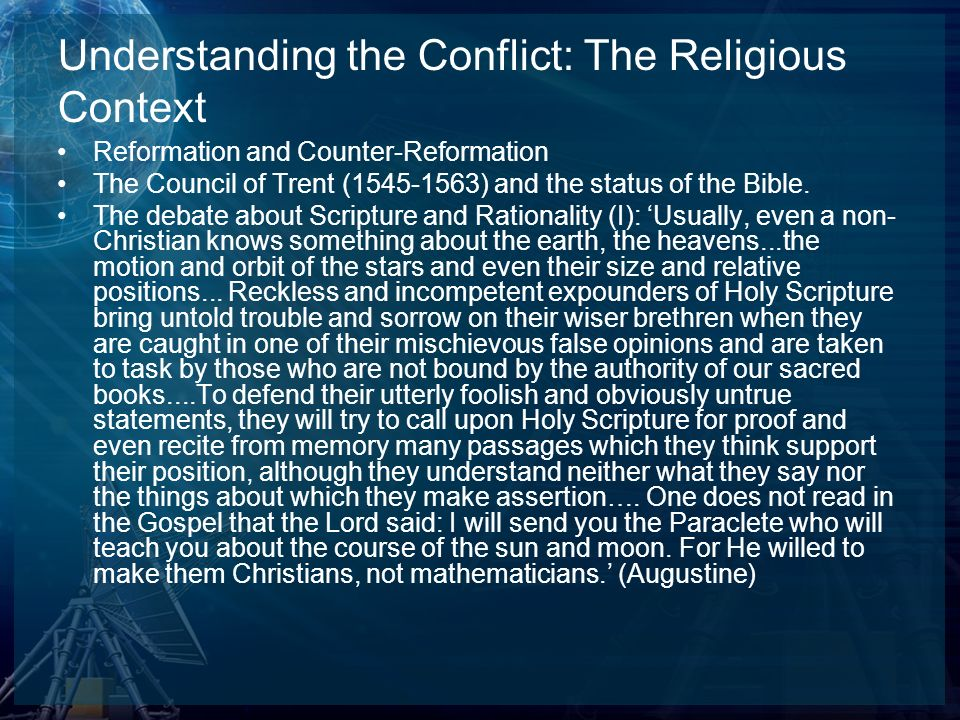 Understanding the Conflict: The Religious Context