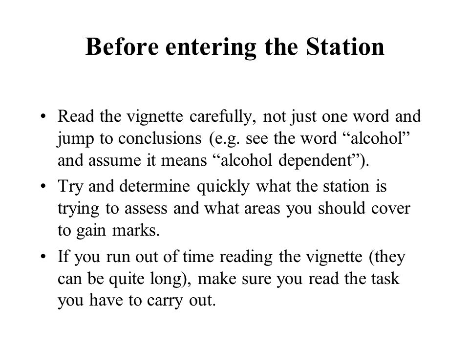 Before entering the Station