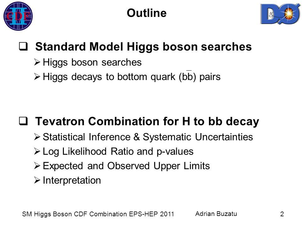 SM Higgs Boson CDF Combination EPS-HEP 2011