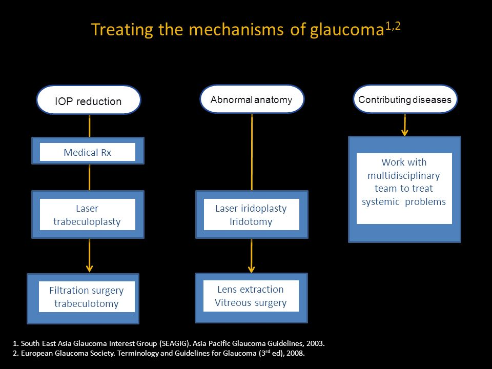 Treating the mechanisms of glaucoma1,2