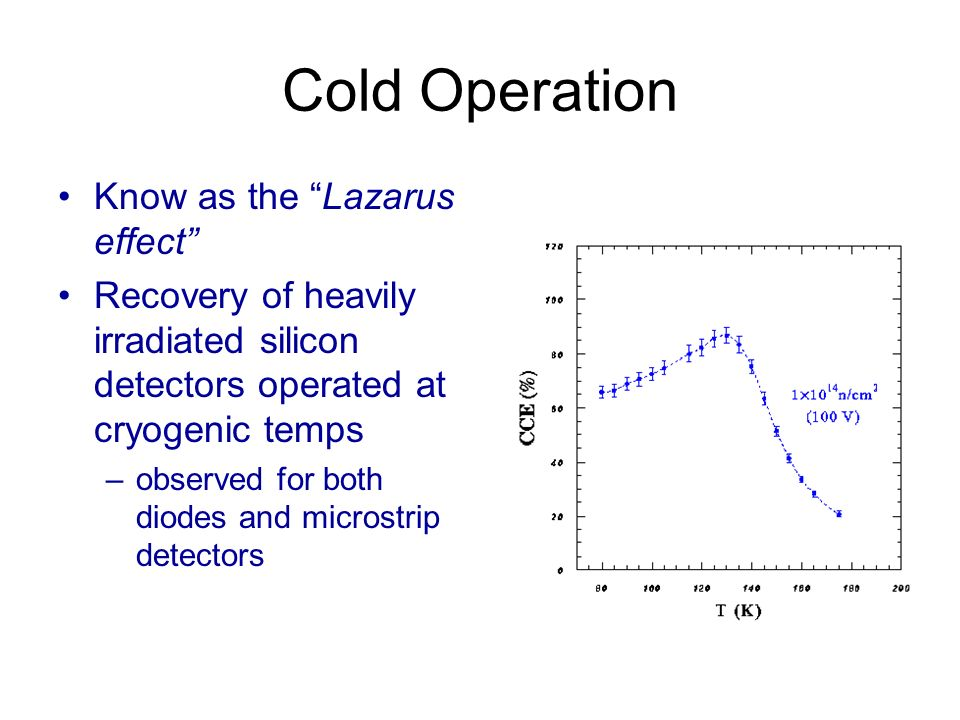 Cold Operation Know as the Lazarus effect
