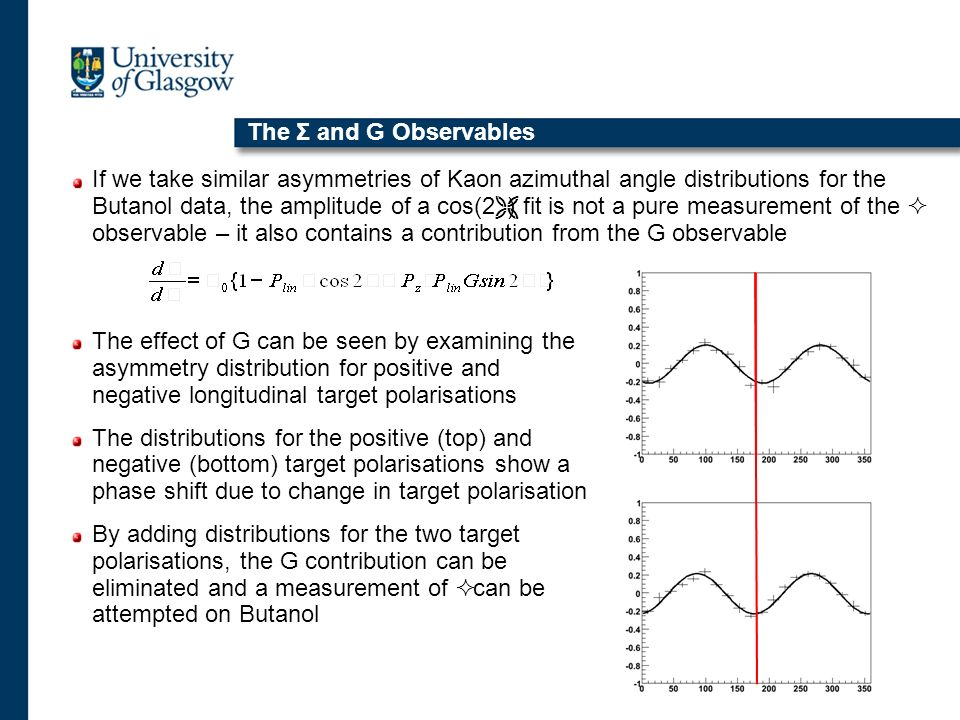 The Σ and G Observables