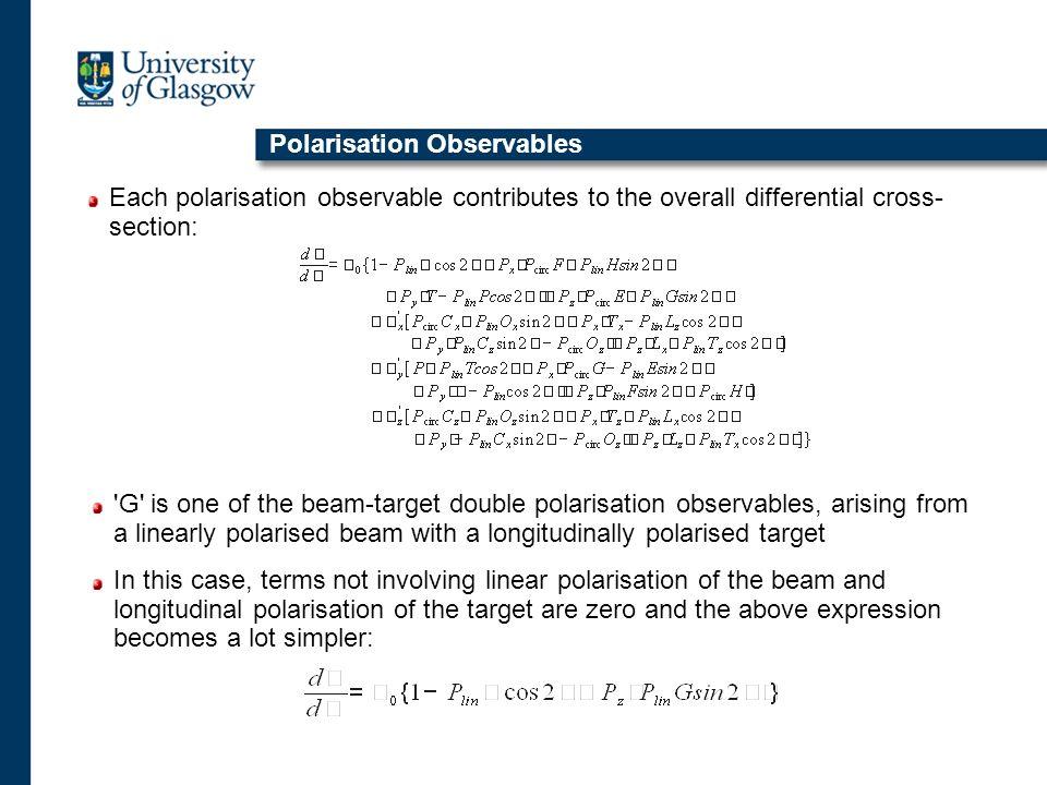 Polarisation Observables
