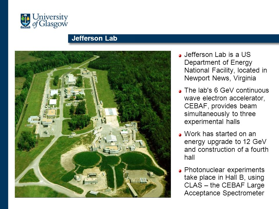 Jefferson Lab Jefferson Lab is a US Department of Energy National Facility, located in Newport News, Virginia.