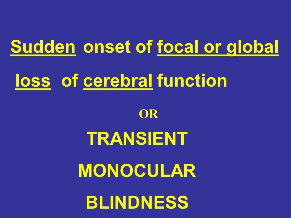 TRANSIENT MONOCULAR BLINDNESS