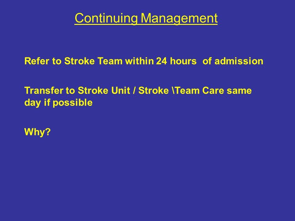 Continuing Management
