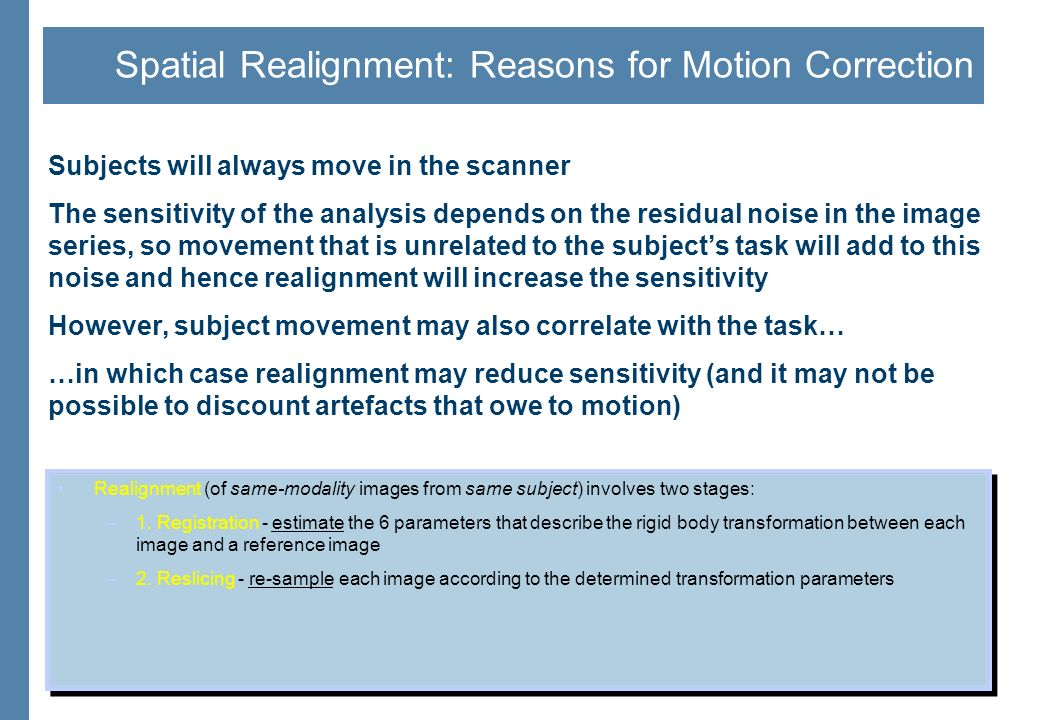 Motion Correction Algorithms