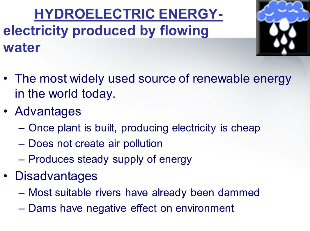 hydroelectric energy advantages and disadvantages pdf