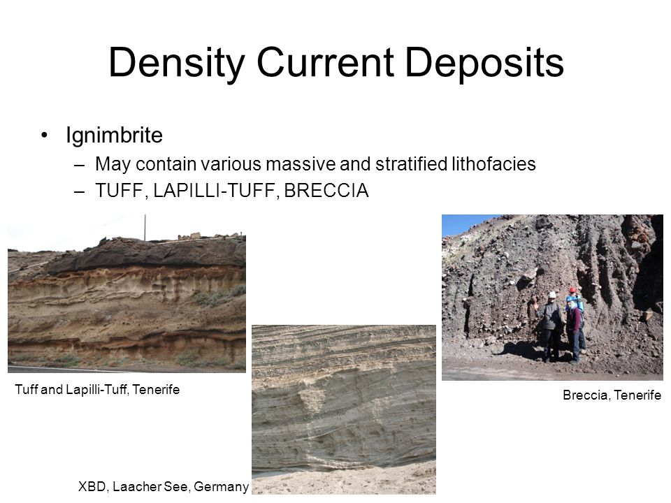 Density Current Deposits