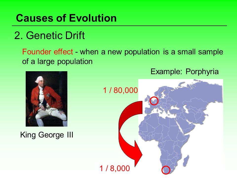 Causes of Evolution 2. Genetic Drift
