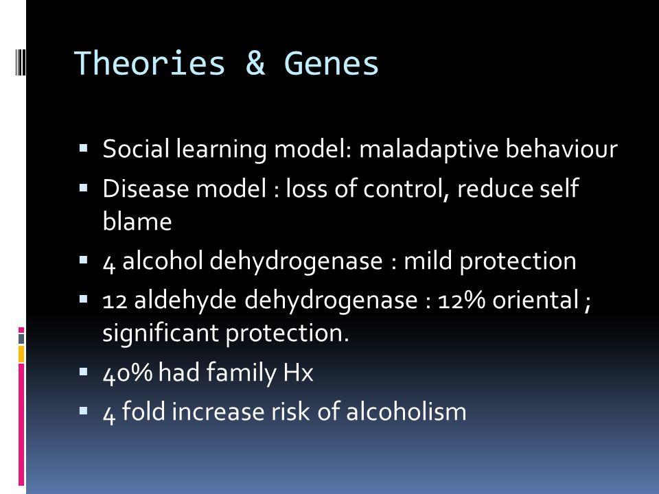 Theories & Genes Social learning model: maladaptive behaviour