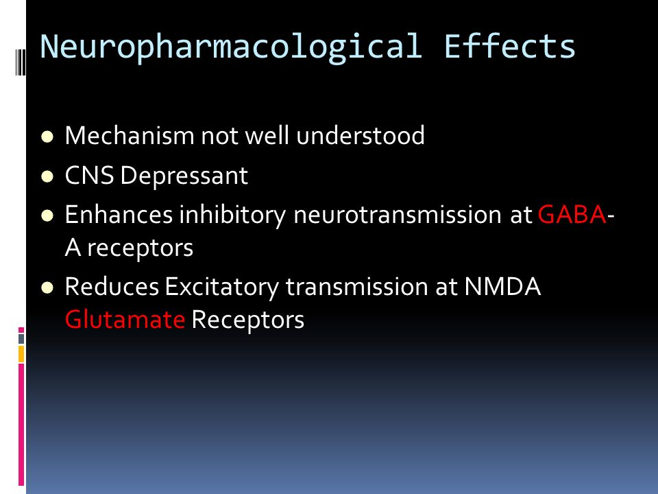 Neuropharmacological Effects