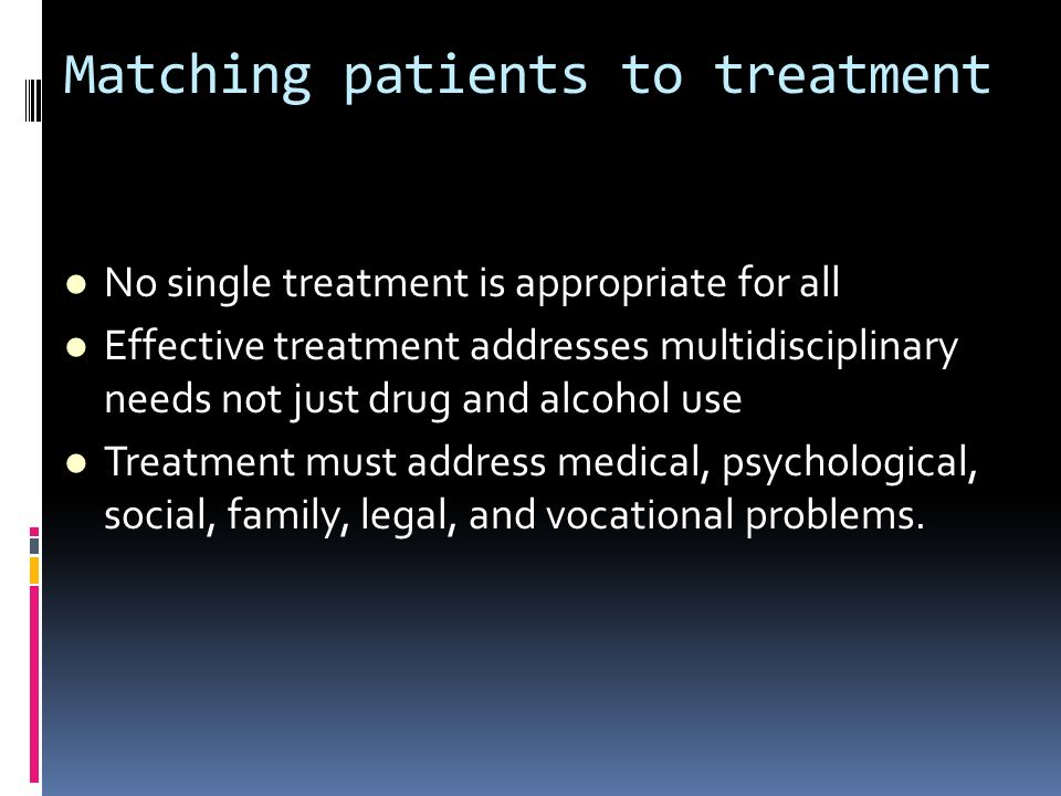 Matching patients to treatment
