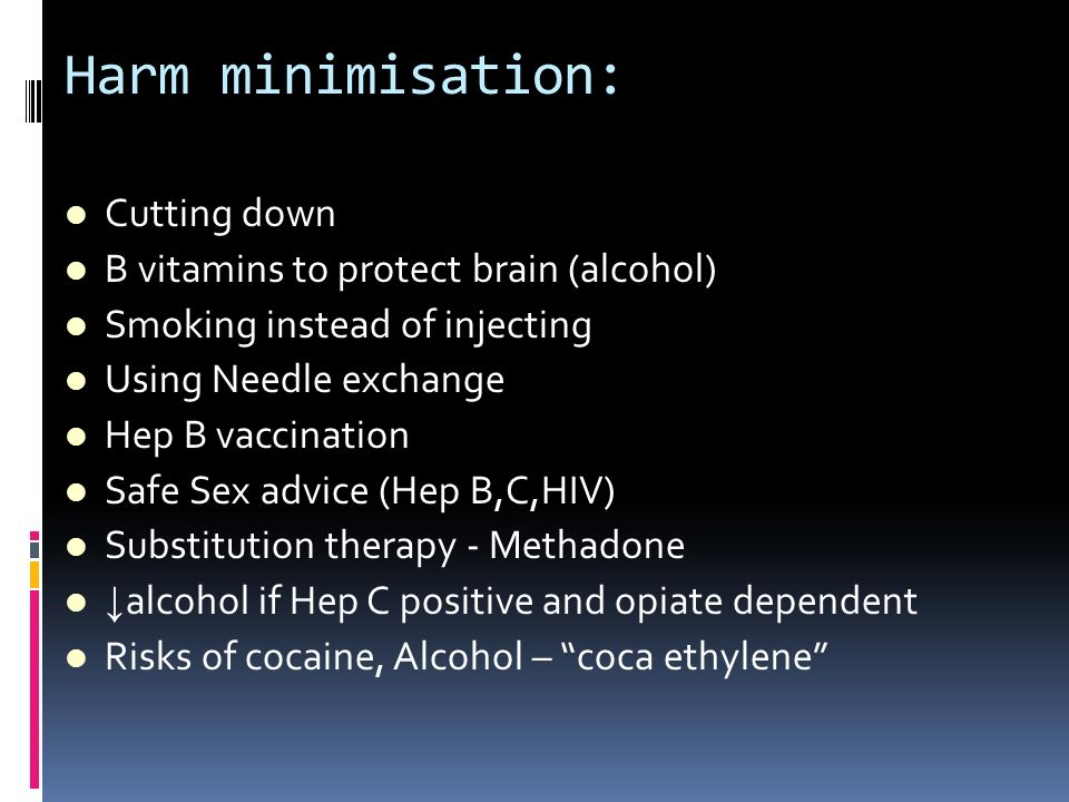 Harm minimisation: Cutting down B vitamins to protect brain (alcohol)