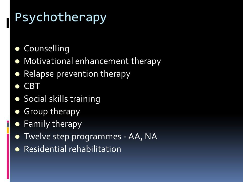 Psychotherapy Counselling Motivational enhancement therapy