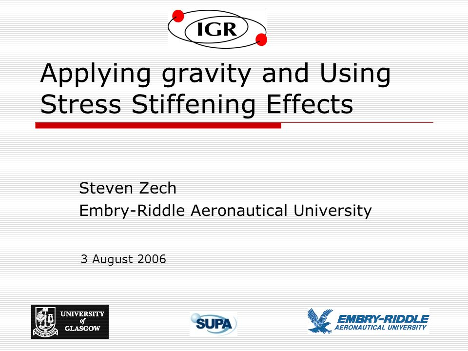 Applying gravity and Using Stress Stiffening Effects