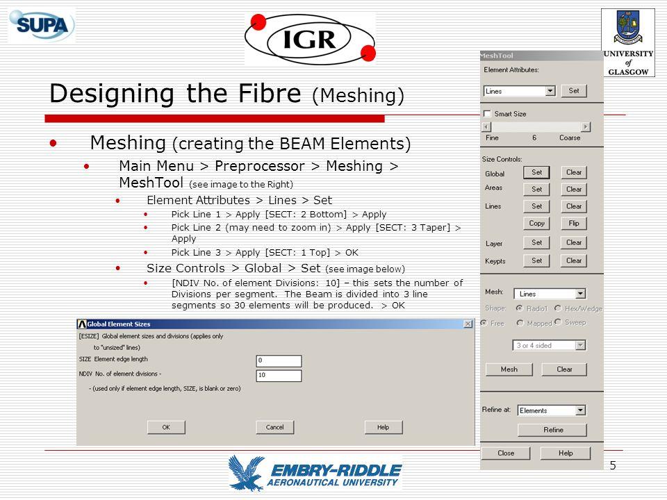 Designing the Fibre (Meshing)