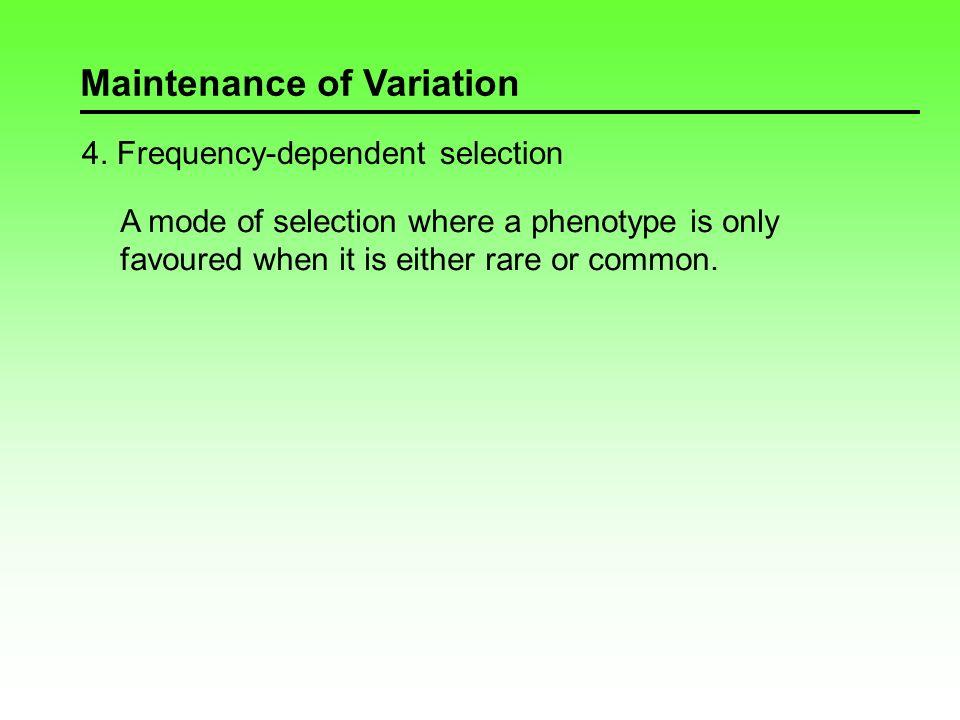 Maintenance of Variation