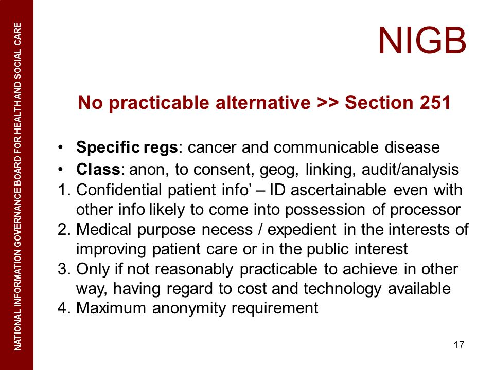 No practicable alternative >> Section 251